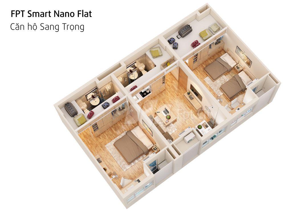 CĂN HỘ SMART NANO FLAT SANG TRỌNG 2PN
